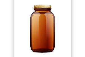 Dark Amber Glass Bottle