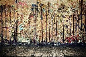 Grunge concrete wall with grafitti