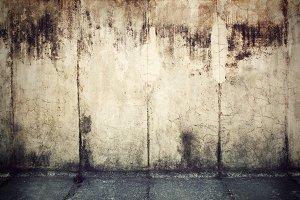 Grunge, rusty concrete wall
