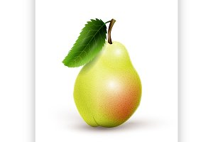 Green pear isolated