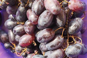 red grape fruit food