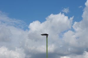 LED Light on lamp post