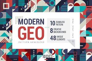 Modern Geometry Pattern Generator