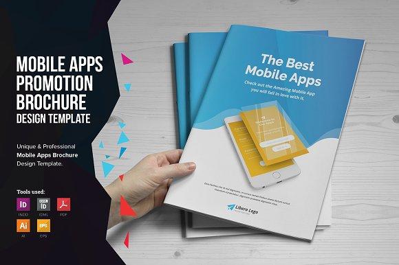 mobile apps promotion brochure v1 brochure templates creative market