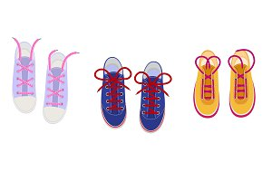 Shoelaces on snickers vector