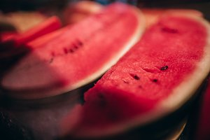 Close up of Slices of Watermelon