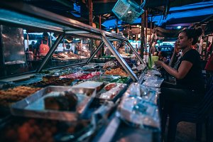 Sweets Seller at The Night Market