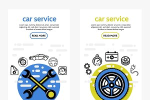 Car service vertical banners