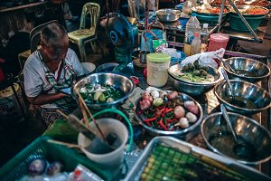 Salad Seller at The Night Market