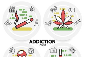 Harmful addictions concept