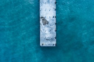 close up overhead view of ocean sea