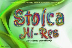 Stoica - Bitmat SVG Color Font