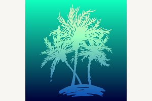 Palm tree sketch digital vector art