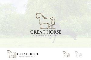 Cool Horse Logo Elegant