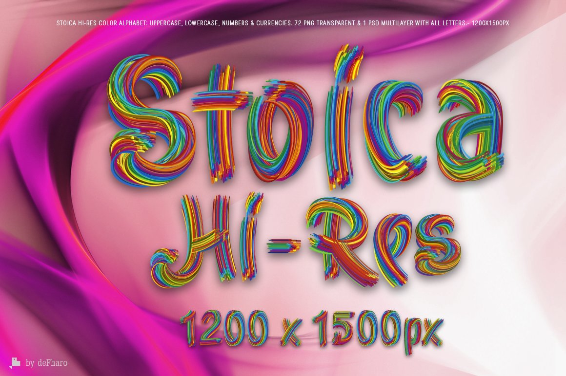 Stoica - Color Alphabet ~ Graphic Objects ~ Creative Market
