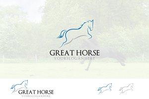 Prancing Horse Running Jumping Logo
