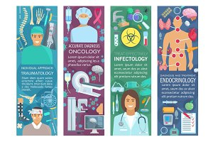 Banners of medicine and health care
