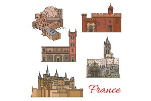 Travel landmarks of France
