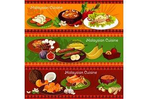 Malaysian cuisine banners