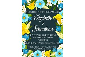 Wedding party invitation banner