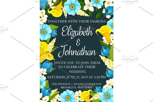 Wedding party invitation banner