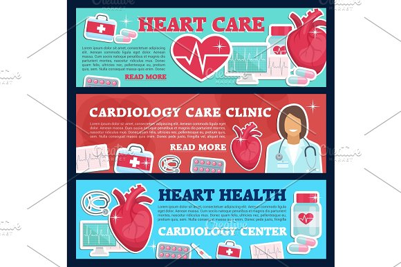 Cardiology banner for heart clinic