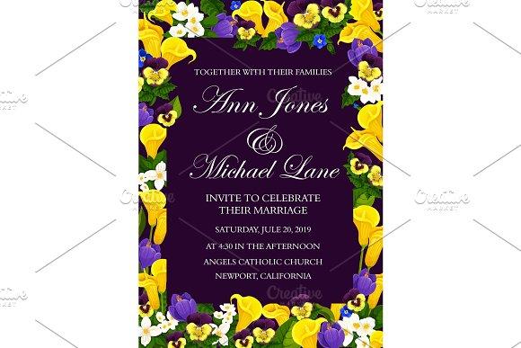Wedding ceremony invitation banner in Illustrations