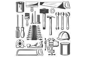 Construction, repair carpentry tools