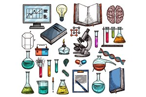 Science or laboratory sketches