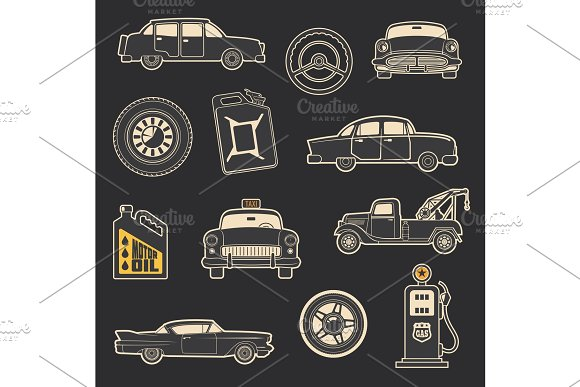 Transportation, vehicle and service in Illustrations