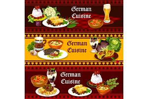 German cuisine food and drinks