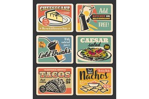 Fast food restaurant cards design