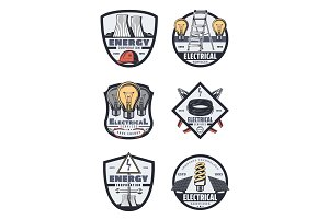 Electrical service and power badges
