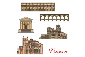 French travel landmarks