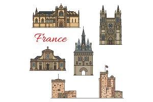 Travel landmarks of medieval French