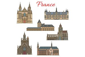 French travel landmarks buildings