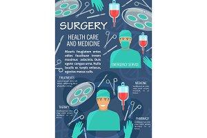 Surgery medicine poster