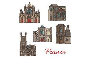 French landmark icons, Troyes