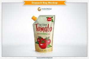 Corner Spout Doypack Bag Mockup
