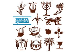 Israel history, judaism symbols