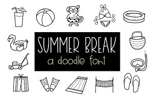 Summer Break - A Doodles Font