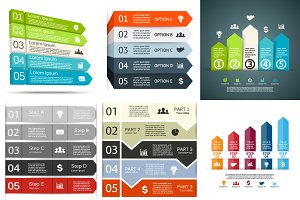 6 infographics for 5 options. Set 4