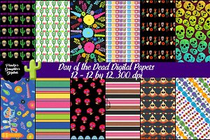 Day of the Dead Digital Papers