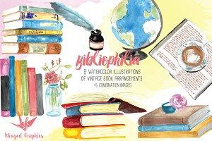 Bibliophile: watercolor books