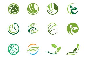 Set of Nature Logo Template