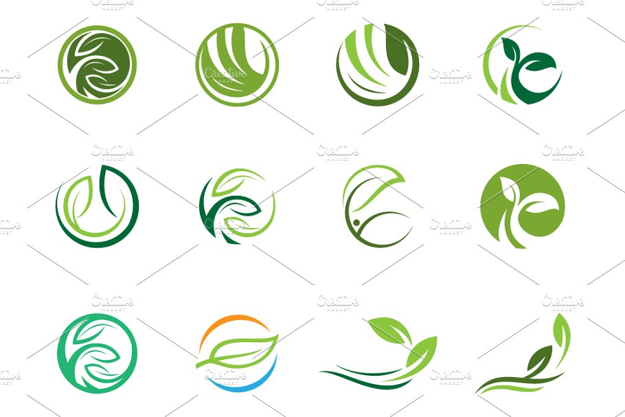 set of nature logo template creative daddy set of nature logo template creative