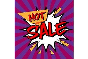 Hot Sale word in pop art comic