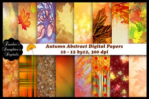 Autumn Abstract Digital Papers