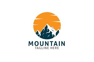 Circle Mountain Logo Template