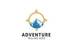 Compass Mountain Logo Template